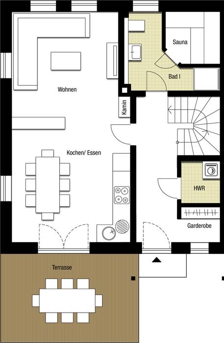 Apartment Stolpen Erdgeschoss