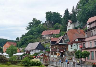 kurort rathen in der sächsichen schweiz - wandern, familienurlaub, klettern