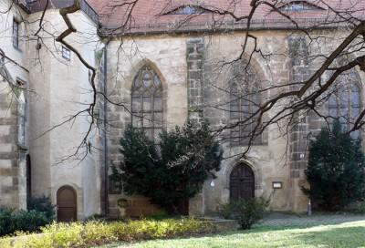 pirna: stadtmuseum mit klosterhof und kirche st. heinrich