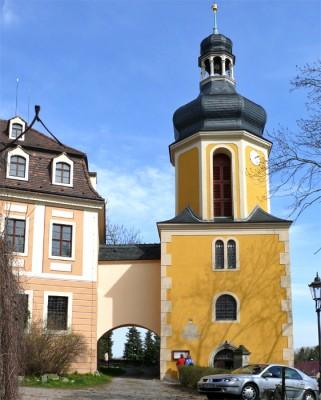 landschloss pirna zuschendorf - wegen seines parks mit gewächshäusern und ausstellungen auch kamelienschloss genannt