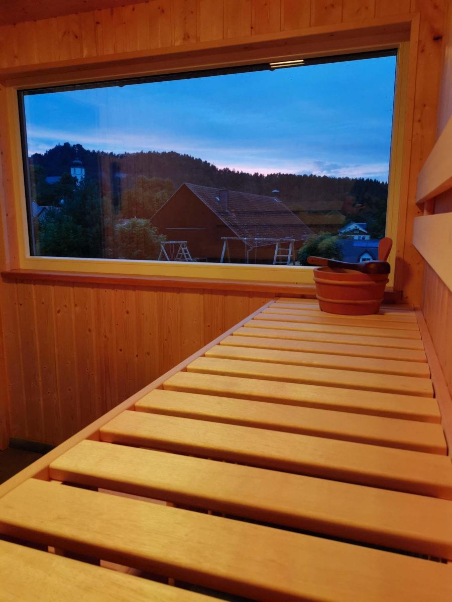 Sauna Ausblick